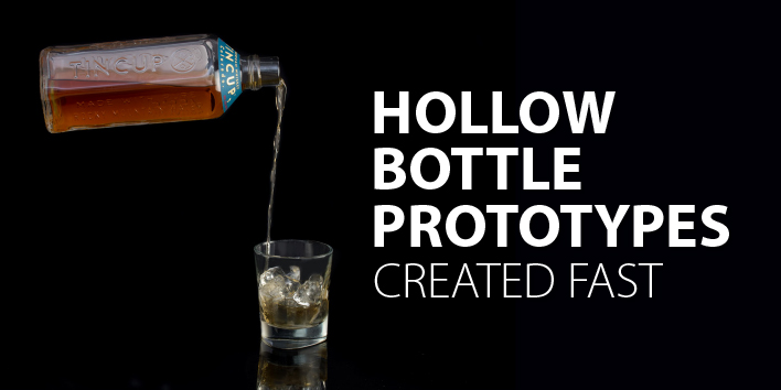 hollow bottle prototypes created fast